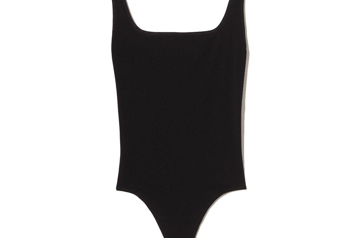 vince square neck bodysuit