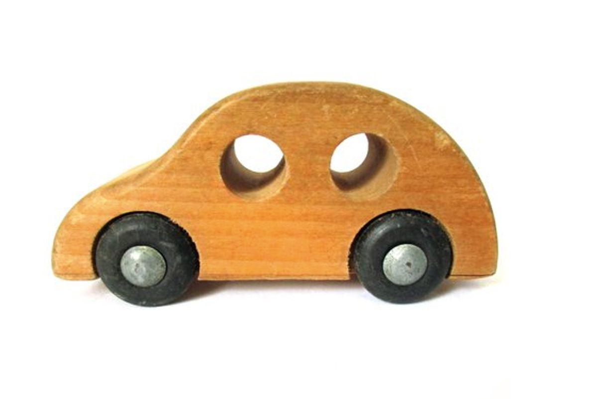 vintage creative playthings wood car