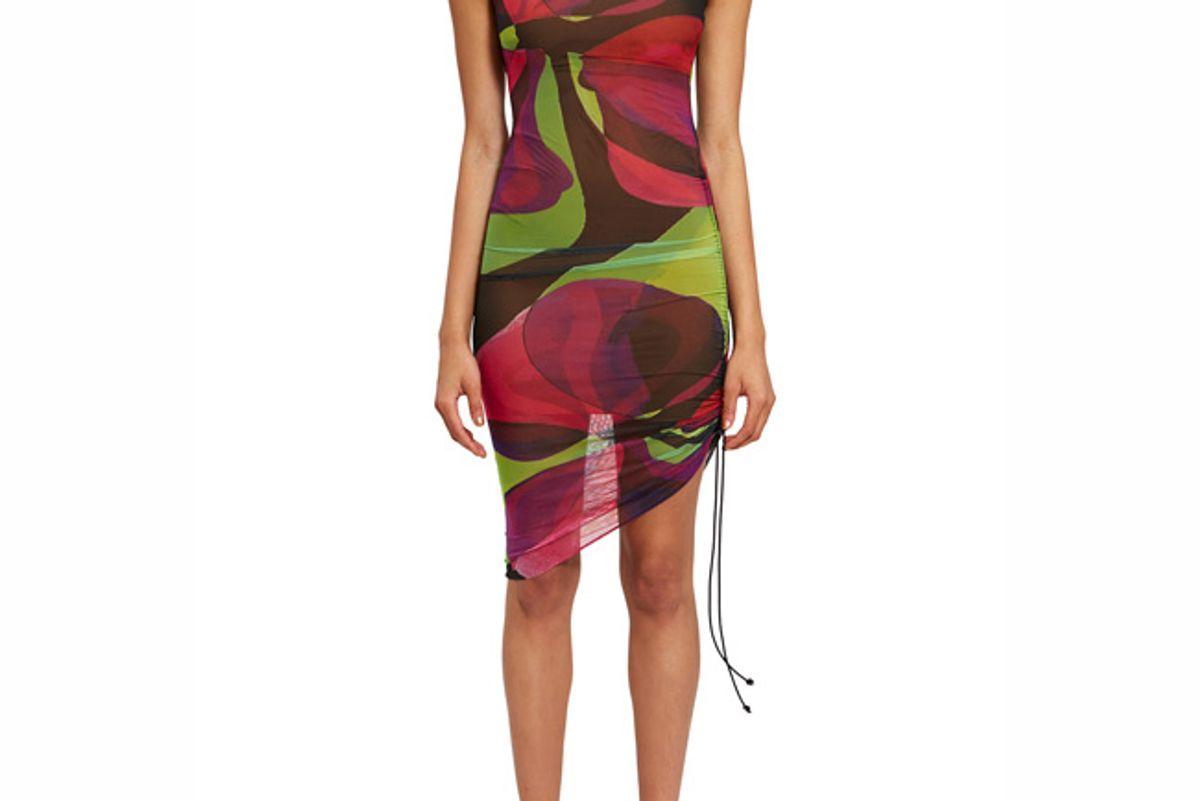 louisa ballou heat wave sleeveless ruched dress