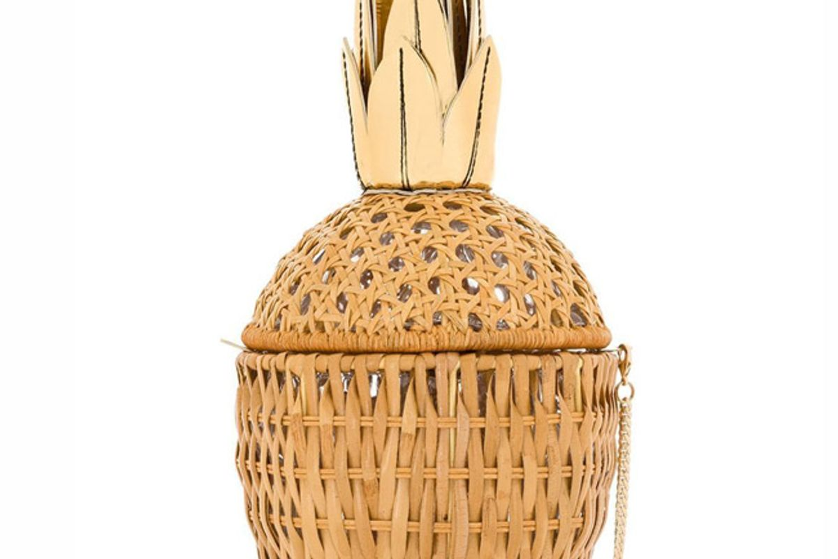 serpui abacaxi straw clutch