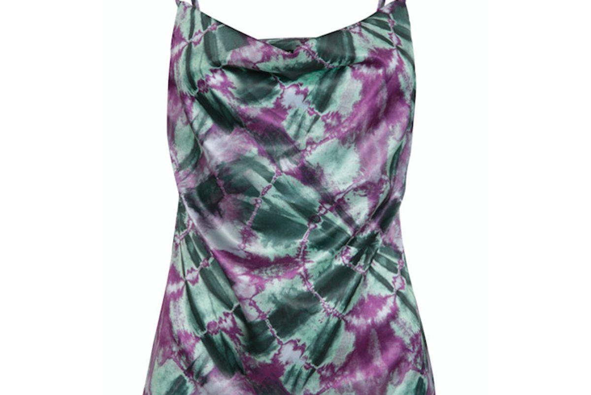 cinta the label intuition print tie dye slip top