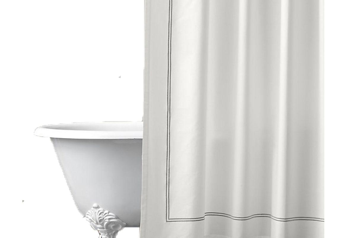 restoration hardware italian hotel satin stitch shower curtain