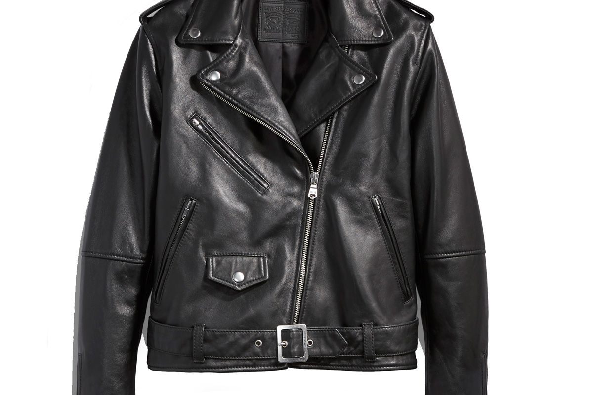 Relaxed Leather Moto Jacket