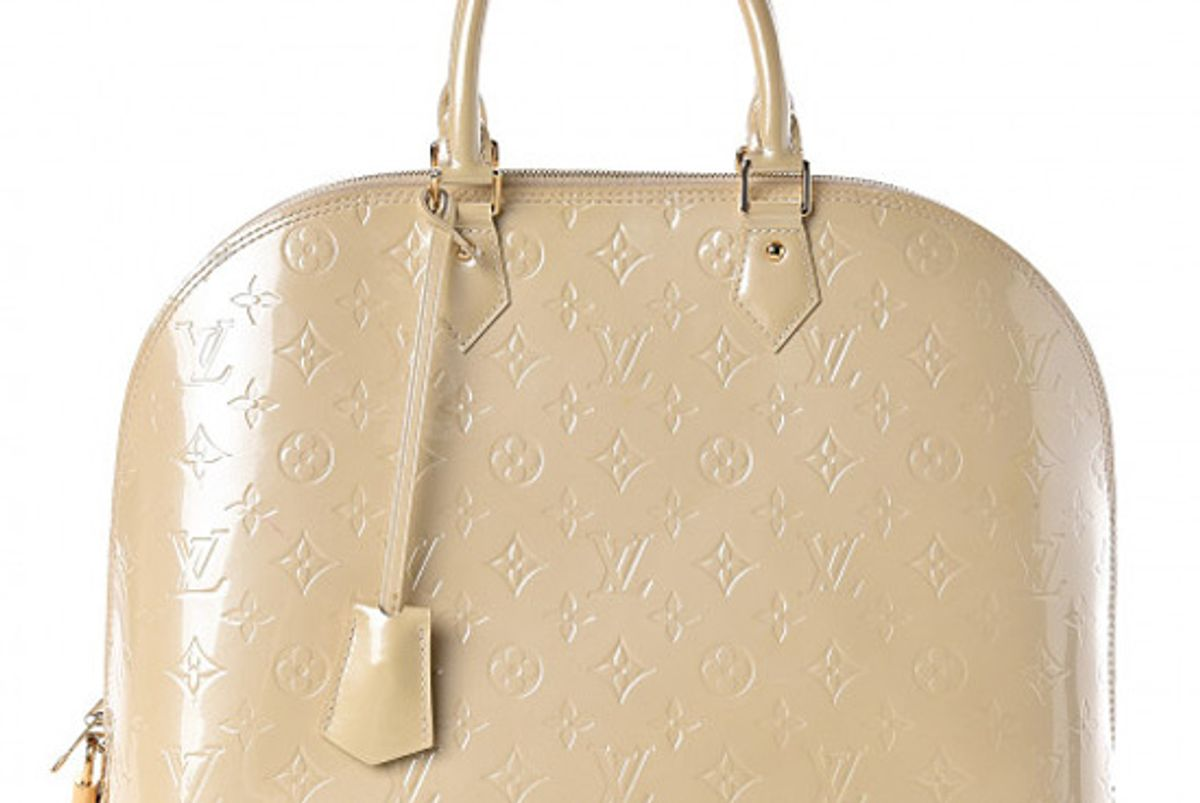 louis vuitton vernis alma mm blanc corail