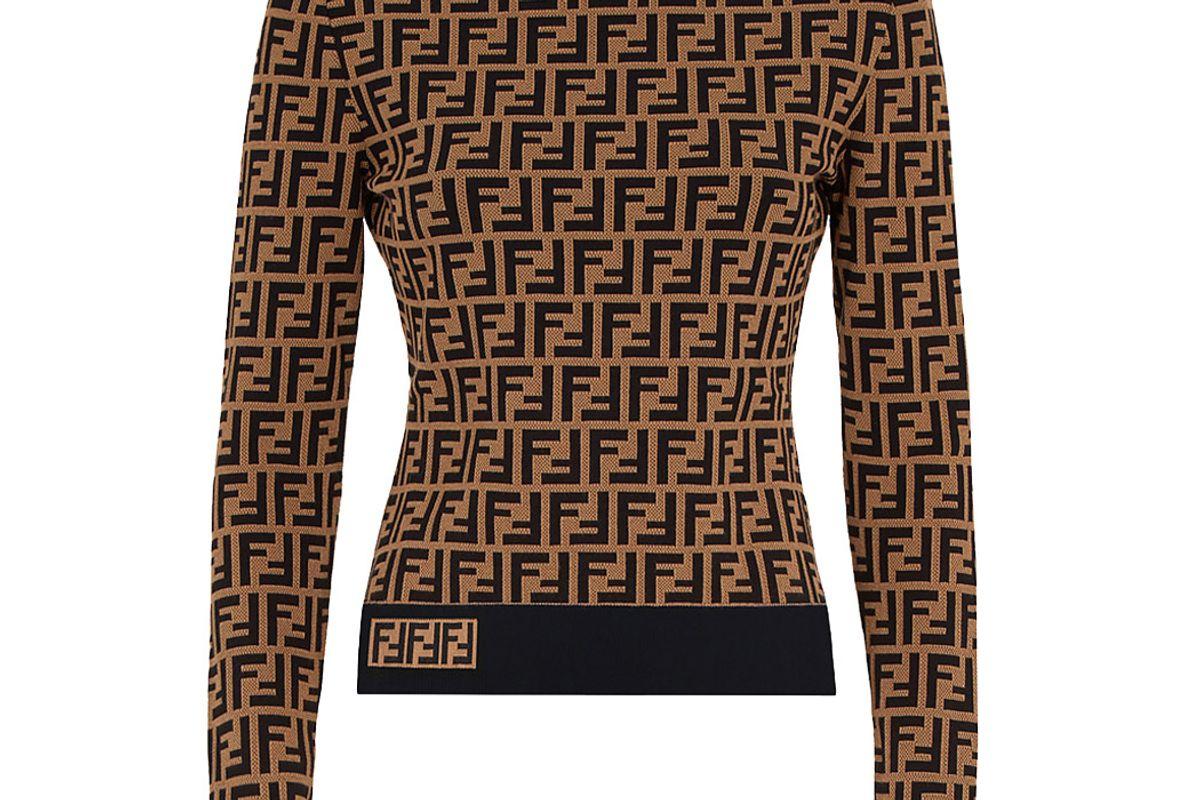 fendi ff jacquard sweater