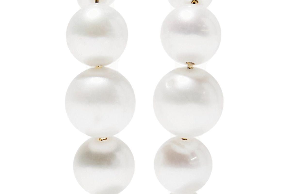 saskia diez pearl earrings