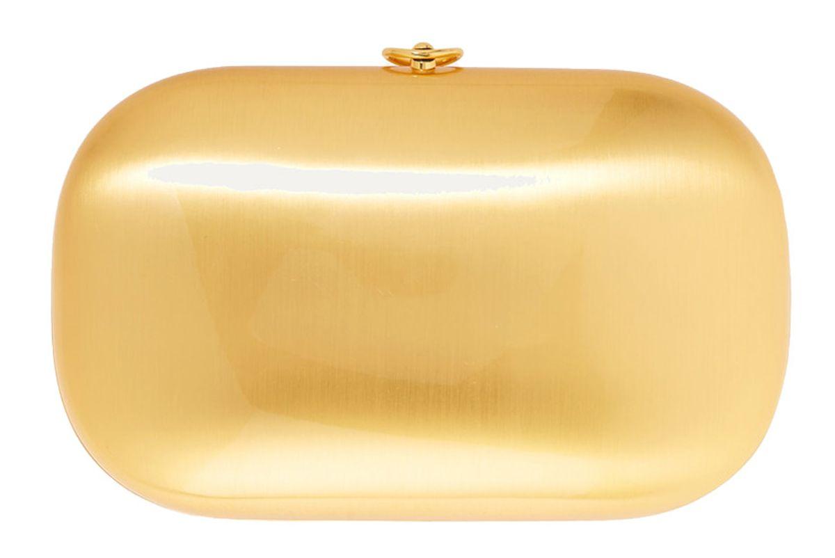 jeffrey levinson elina plus satin and 18 karat gold plated aerospace aluminum clutch