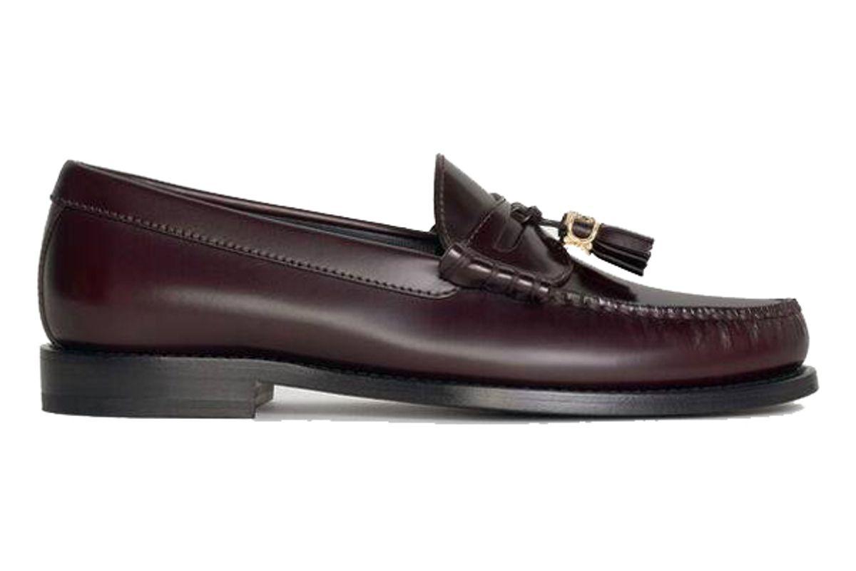celine luco embellished loafer tassels in polished calfskin