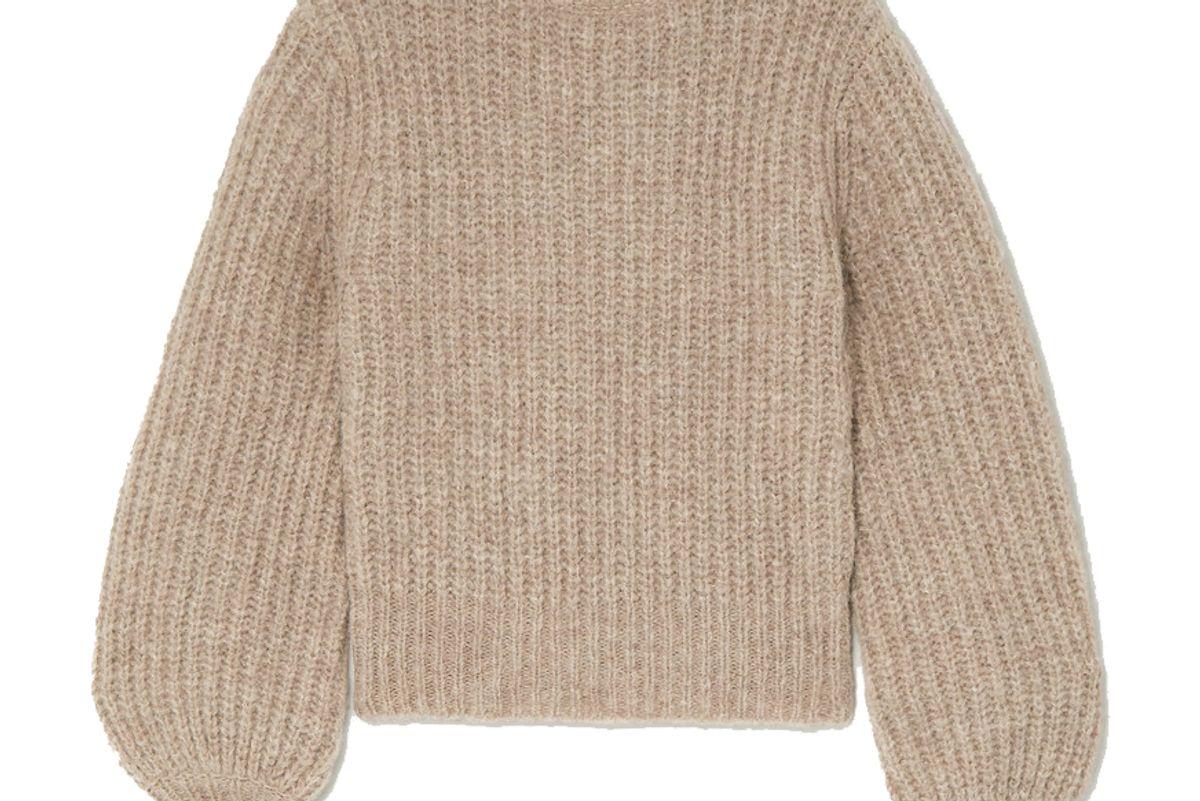 reformation tatum ribbed alpaca blend sweater