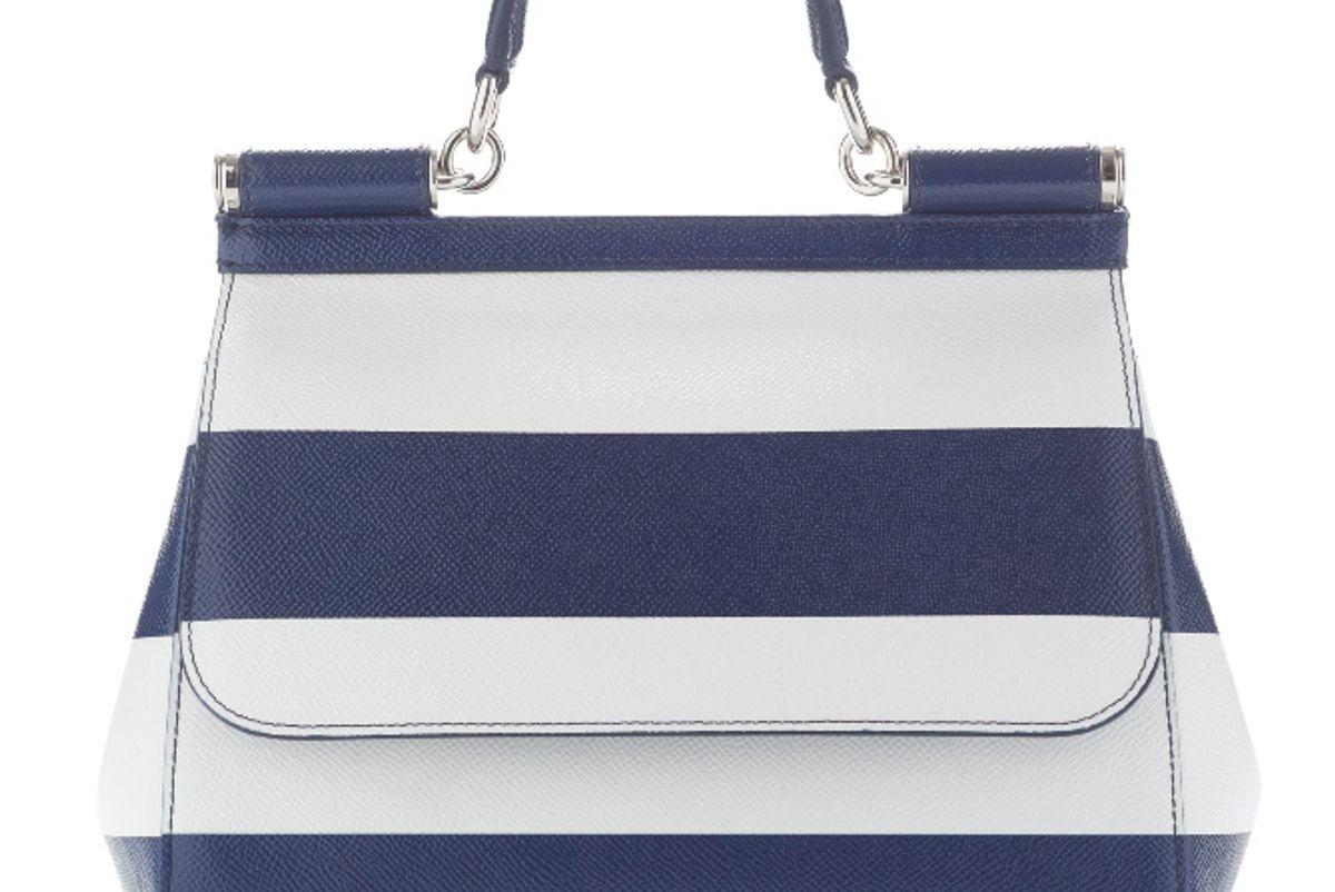 Dauphine Striped Shoulder Bag