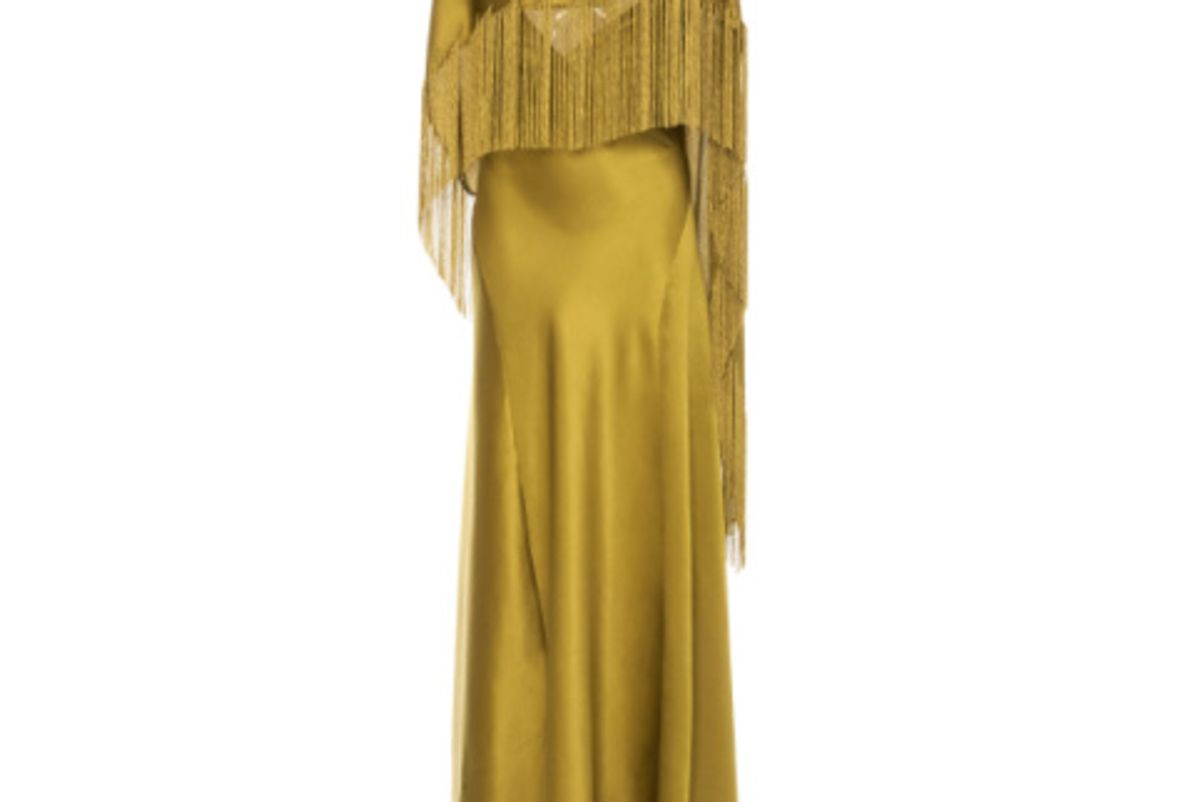 Marlene Fringe Silk Dress