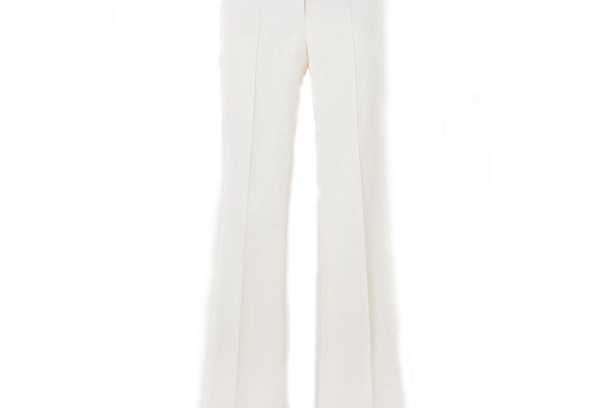 akris farid stretch cotton blend straight leg pants