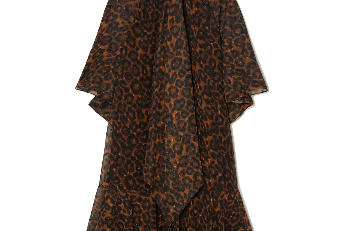 erdem elviretta leopard print fil coupe chiffon dress