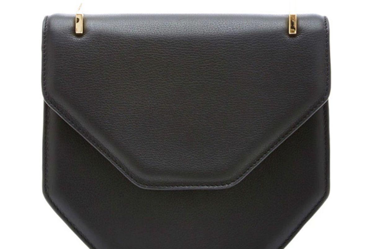 Amor/Fati Cross Body Black Leather Bag