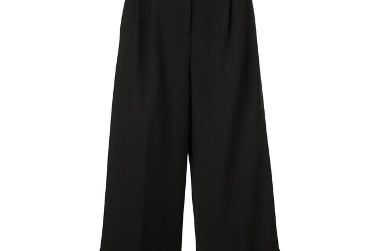 tibi cropped wide leg trousers