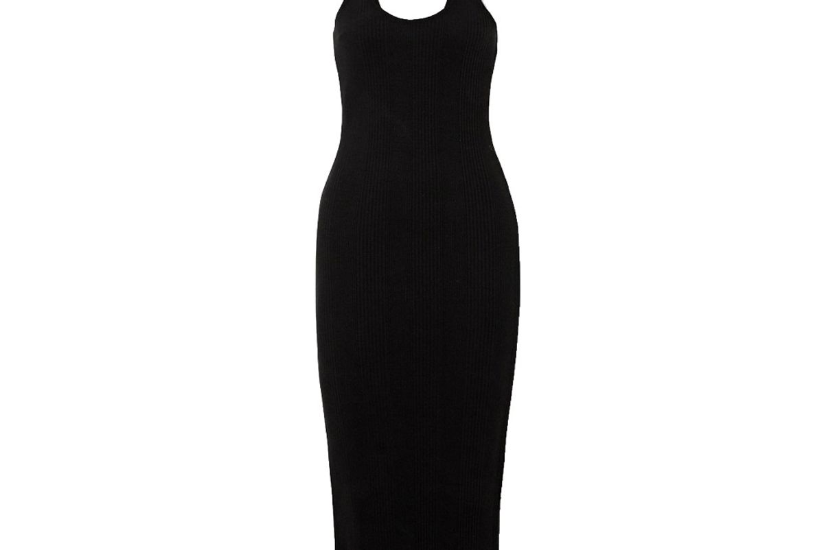 the range division braided ribbed stretch jersey midi dress