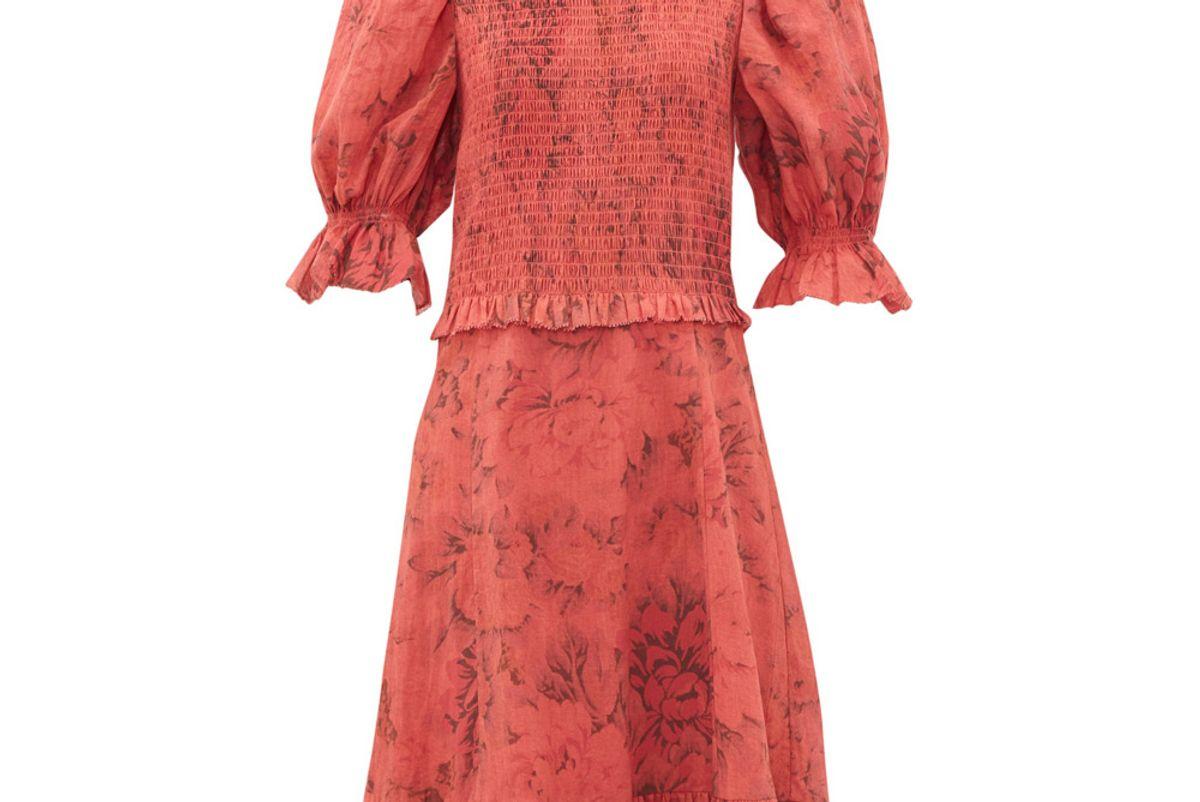 sea mimi smocked floral print dress