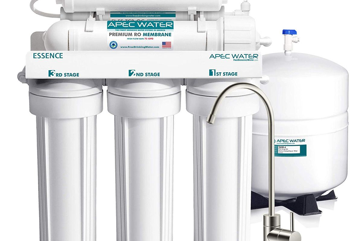 apec top tier alkaline mineral ph 75 gpd 6 stage ultra safe reverse osmosis drinking water filter system