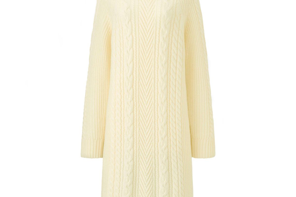 uniqlo women cable knit long sleeve dress