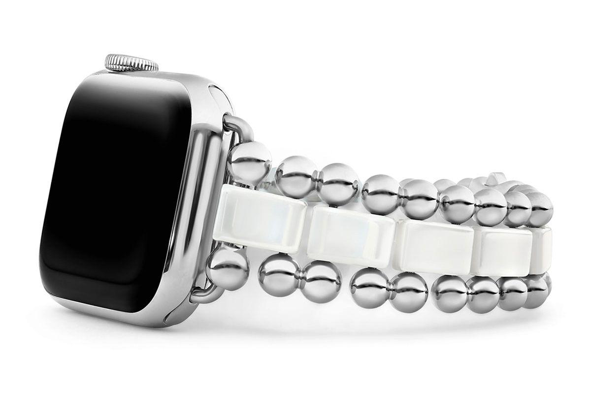 lagos smart caviar white 38mm watch bracelet