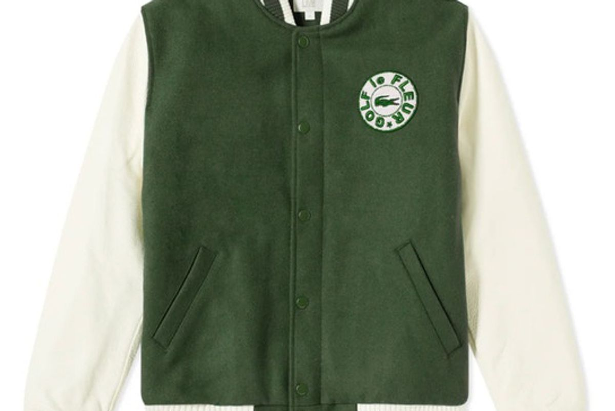 golf le fleur lacoste teddy green jacket