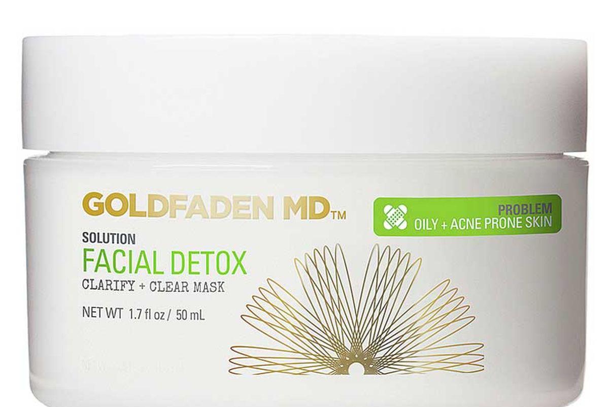 goldfaden md facial detox pore clarifying mask