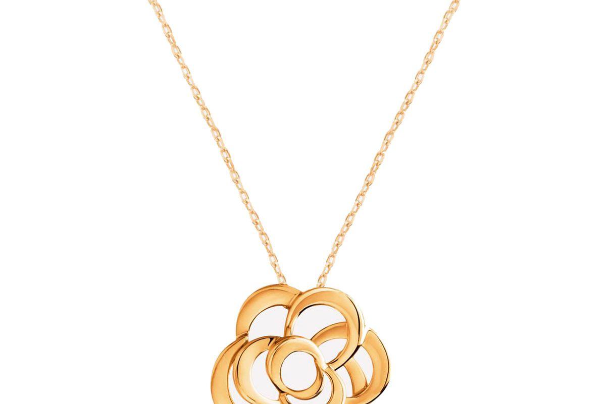 chanel camelia necklace