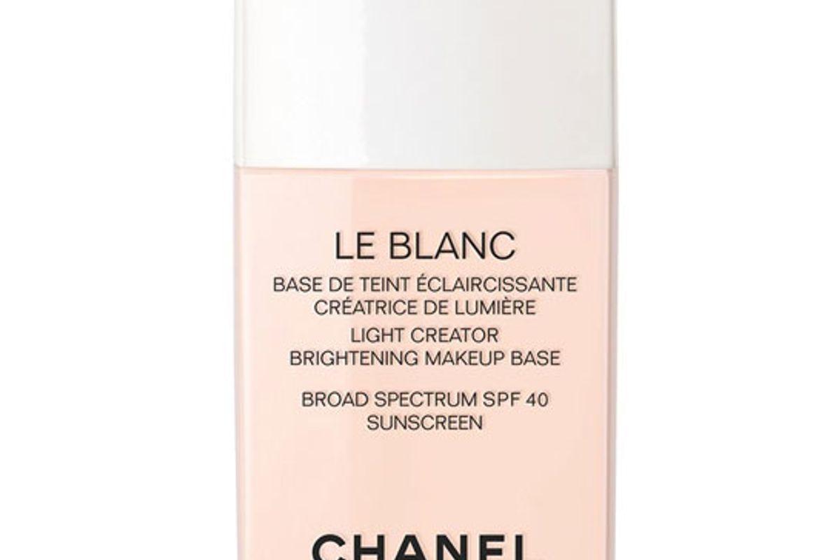 chanel le blanc light creator brightening makeup base broad spectrum spf 40