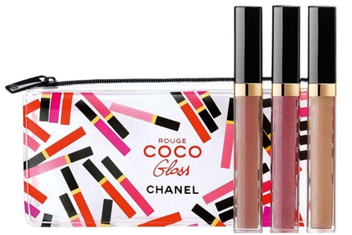 chanel rouge coco gloss trio set