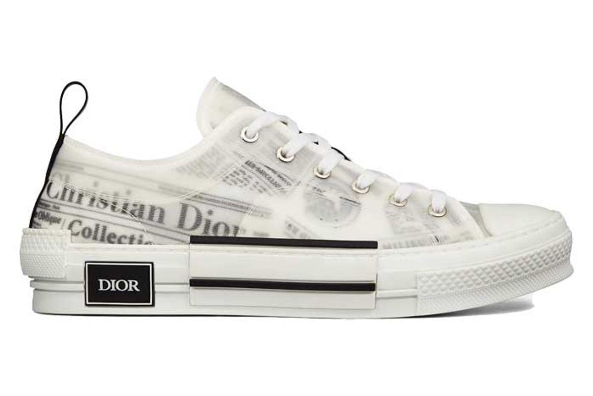 dior b23 dior and daniel arsham low top sneaker in newspaper print