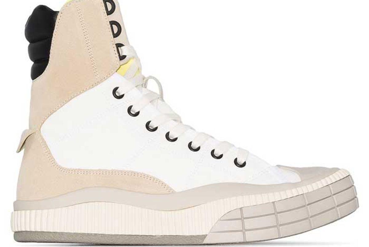 chloe panelled hi top canvas sneakers