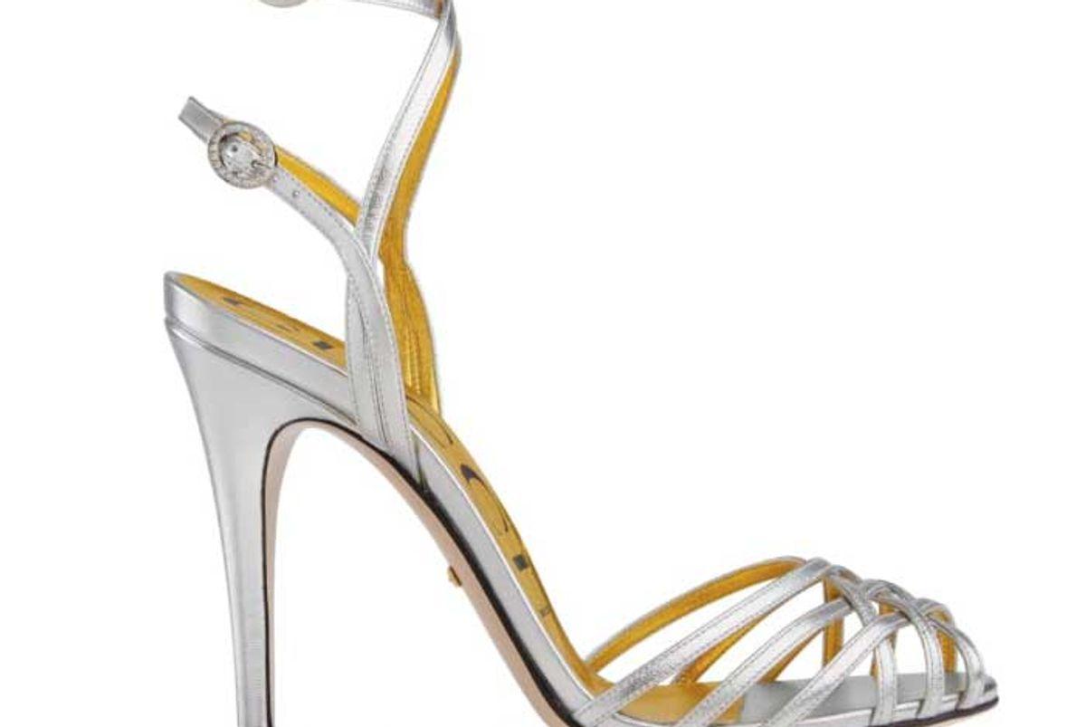 gucci draconia ankle strap sandal women