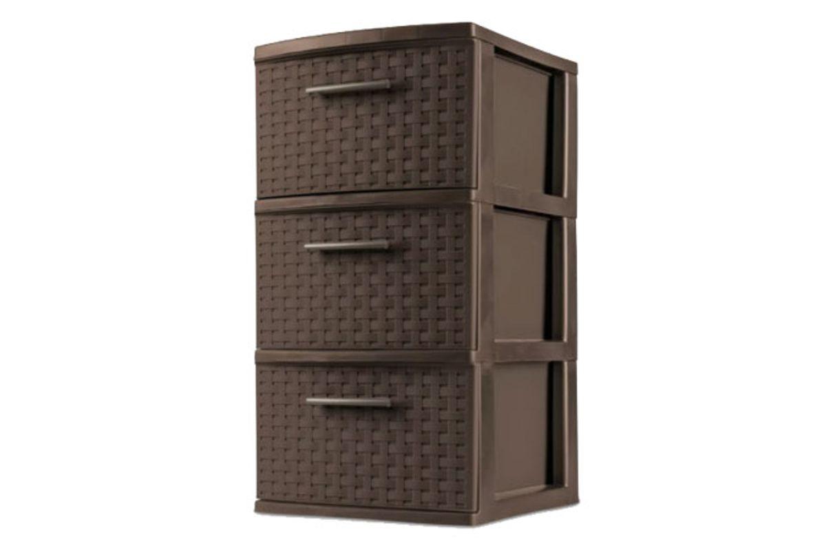sterilite 3 drawer medium weave tower