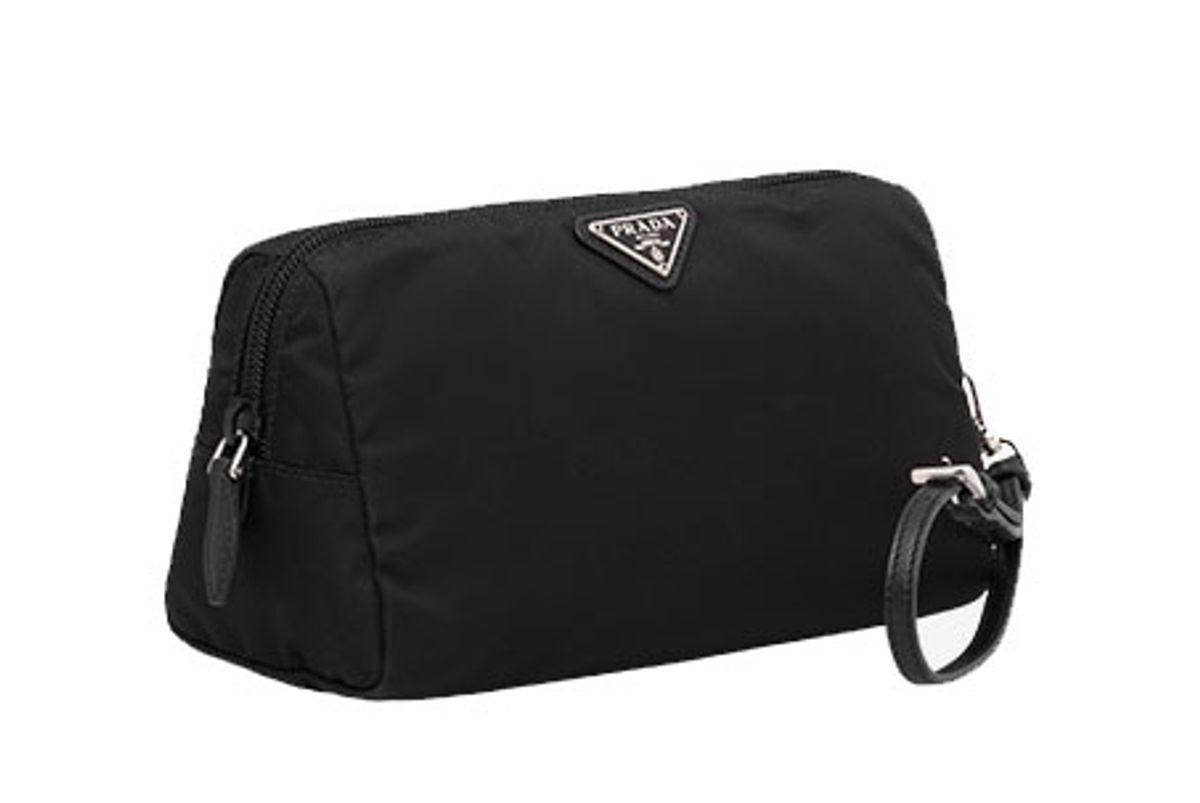 prada fabric cosmetic pouch in black