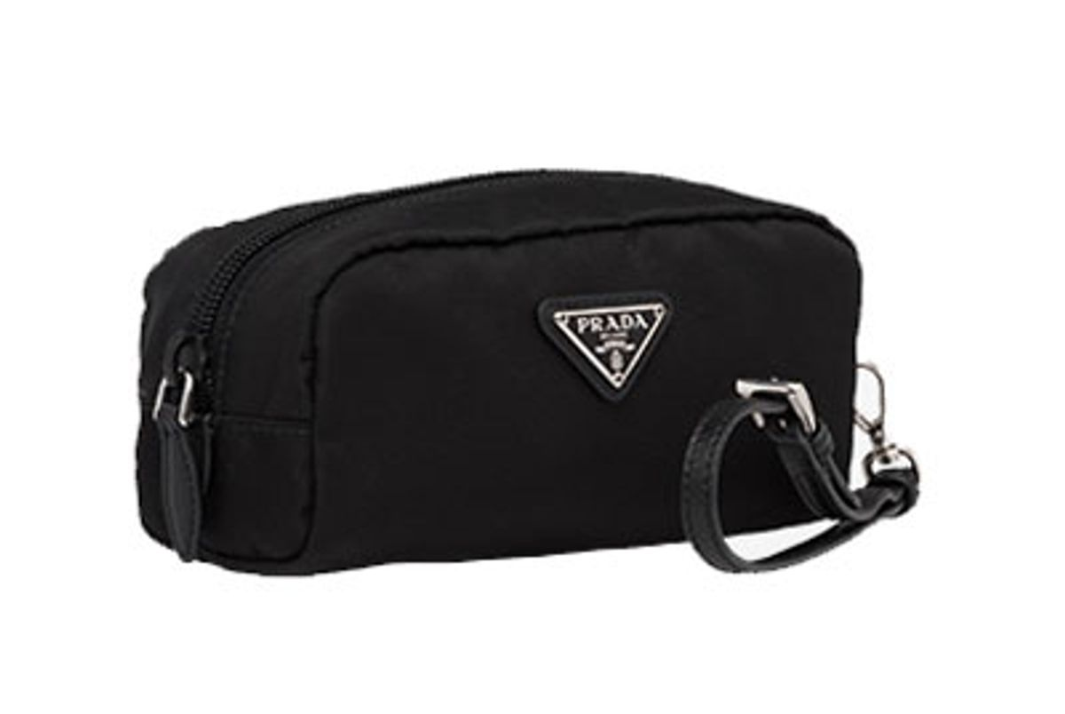 prada small fabric cosmetic pouch