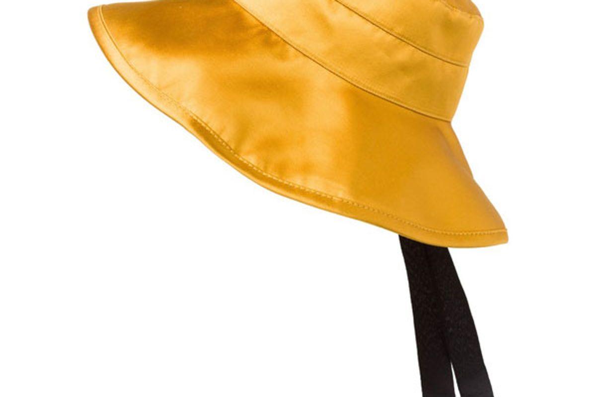 dorothee schumacher shiny perfect silk satin bucket hat