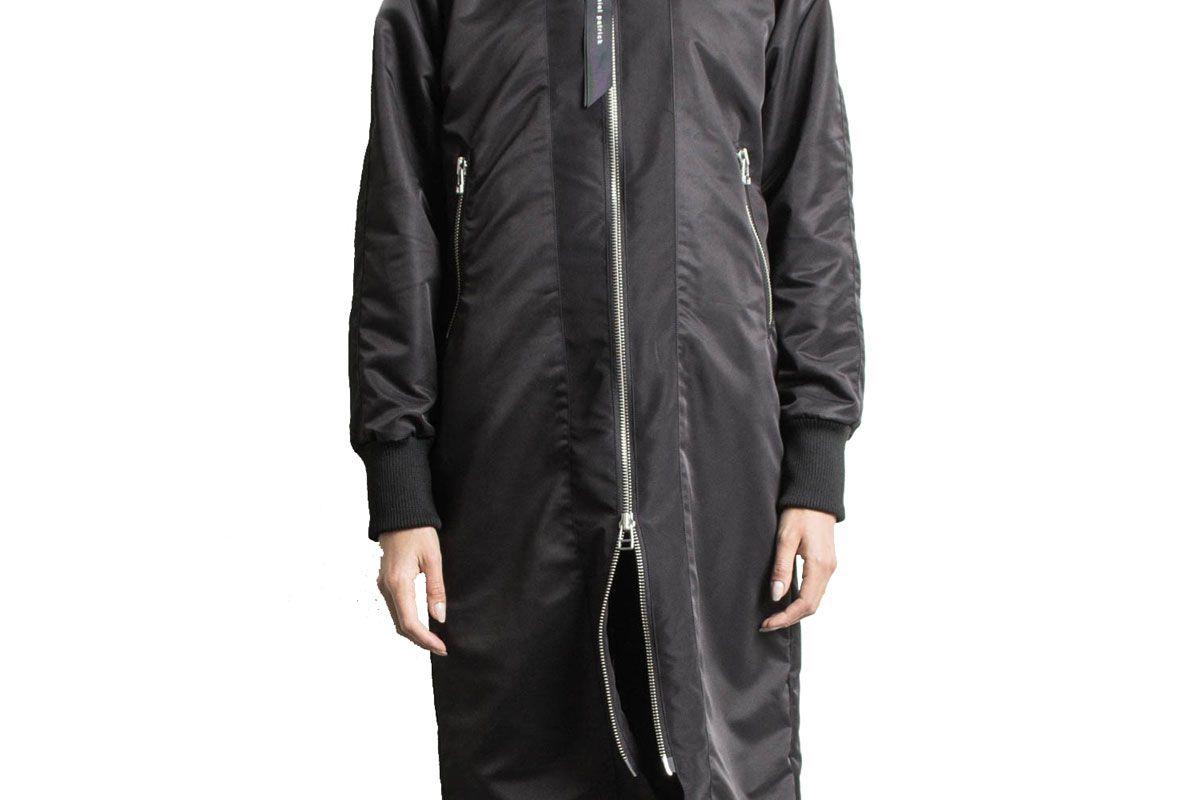 daniel patrick heroine long bomber jacket