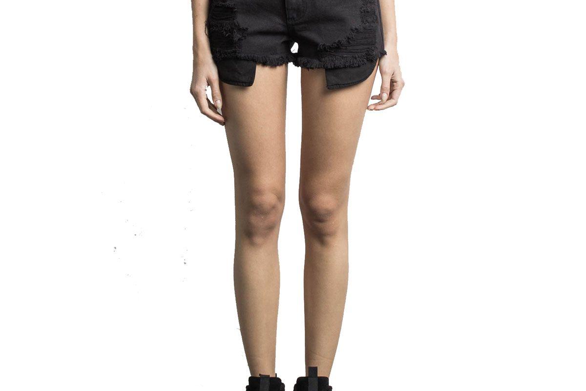daniel patrick high rise denim shorts