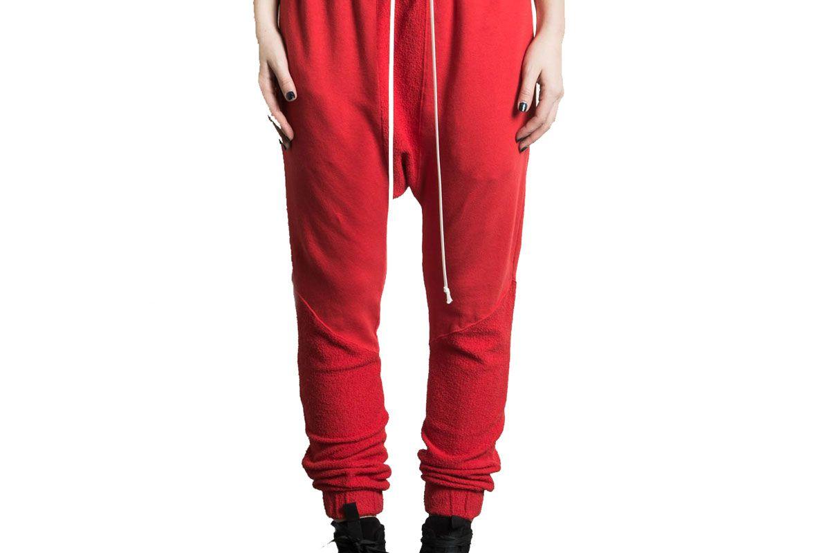 daniel patrick roaming cropped jogger in red