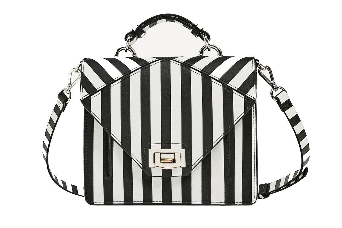 Two-Tone Striped Crossbody Bag