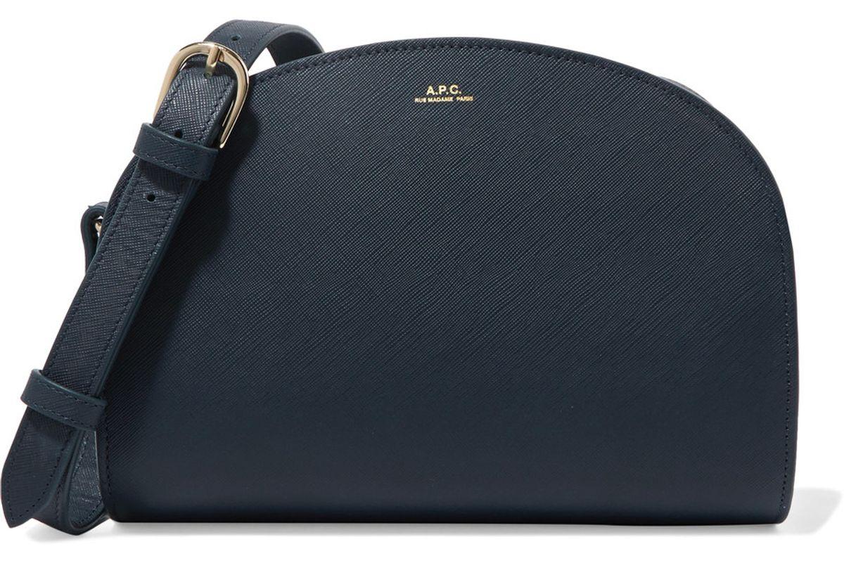 Demi Lune Textured-Leather Shoulder Bag