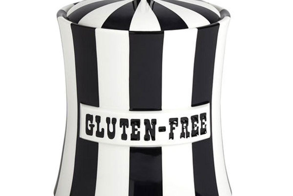 jonathan adler 62oz black white vice gluten free canister