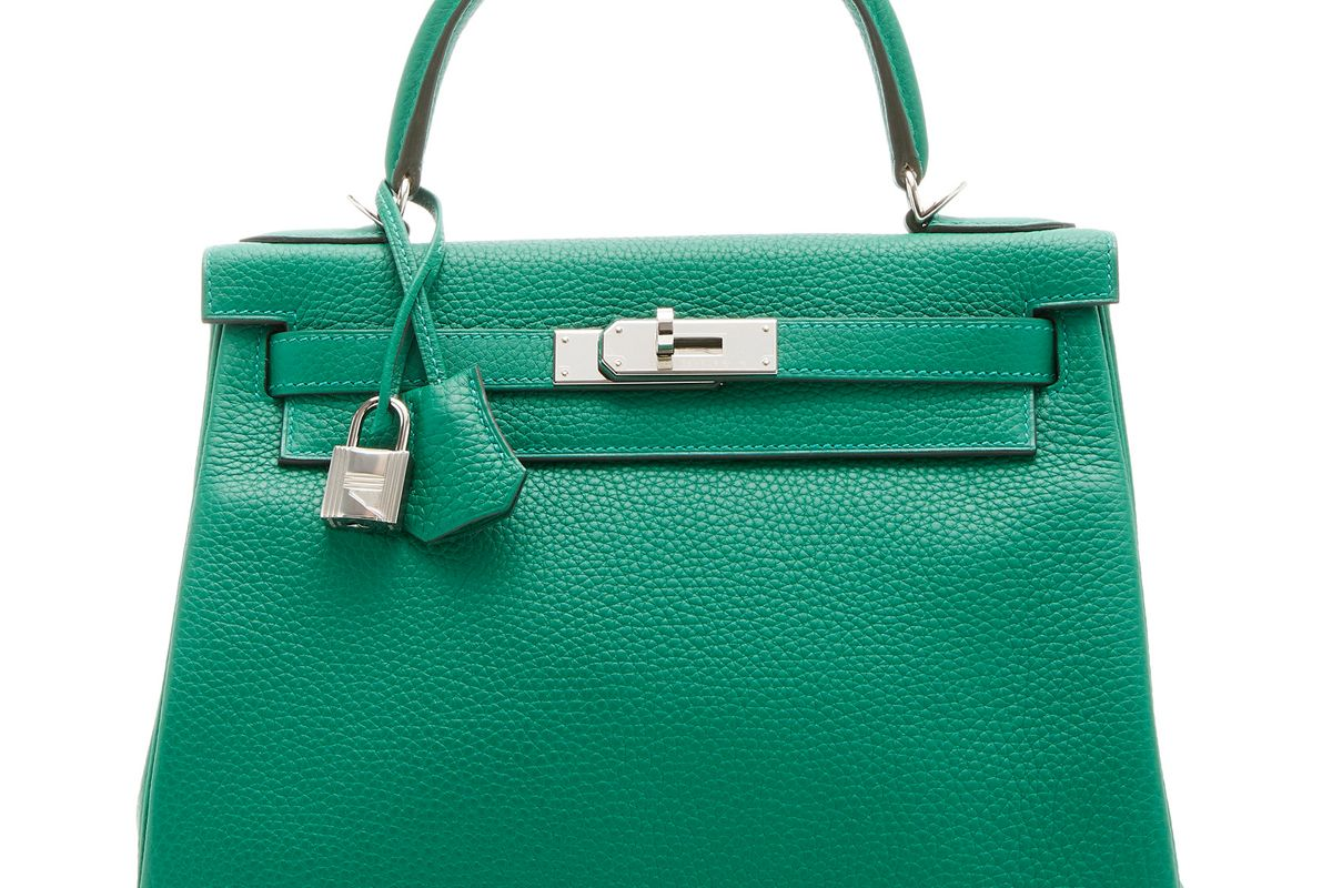 hermes 28cm clemence leather kelly bag
