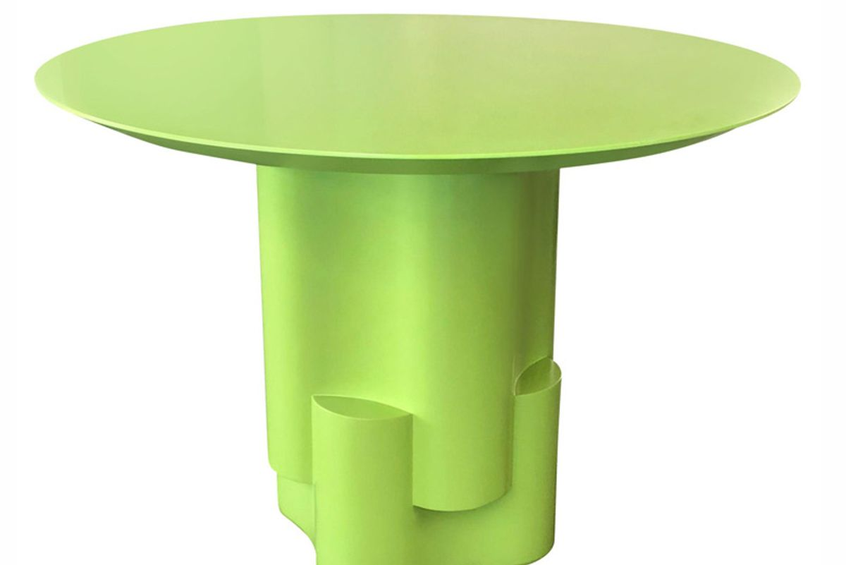 chapter and verse tsugime green lacquered pedestal table