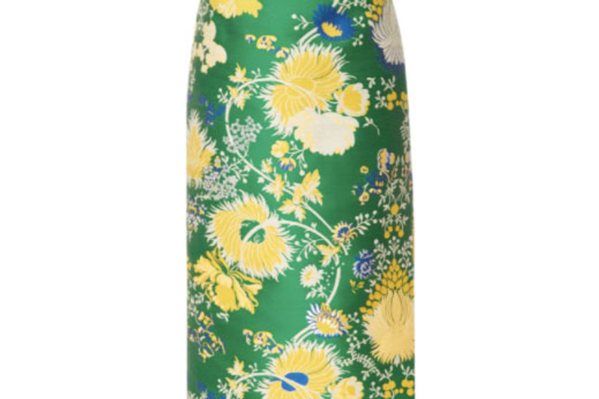rochas pencil skirt in jacquard lurex
