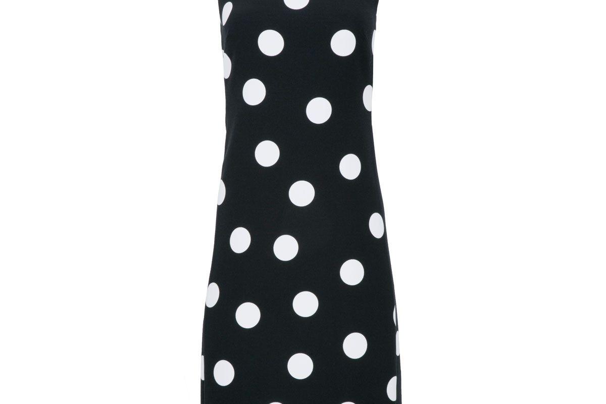 karl lagerfeld paris square neck polka dot dress