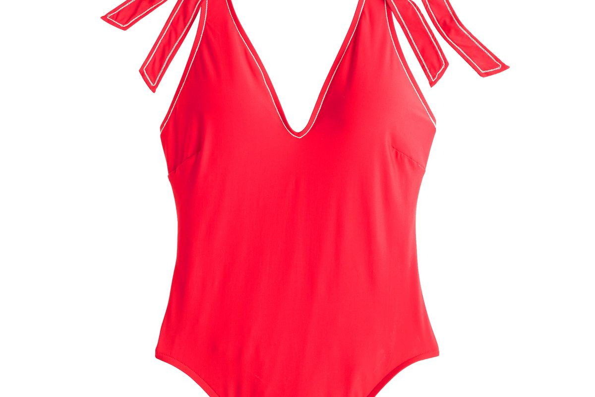 Shoulder Tie One-Piece Swimsuit