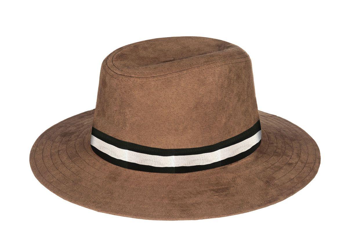 roxy da vida faux suede panama hat