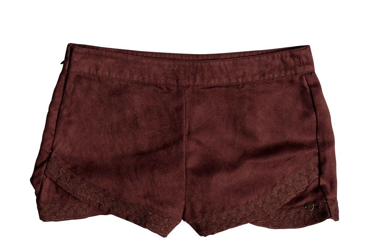 roxy hot spring arizona faux suede shorts