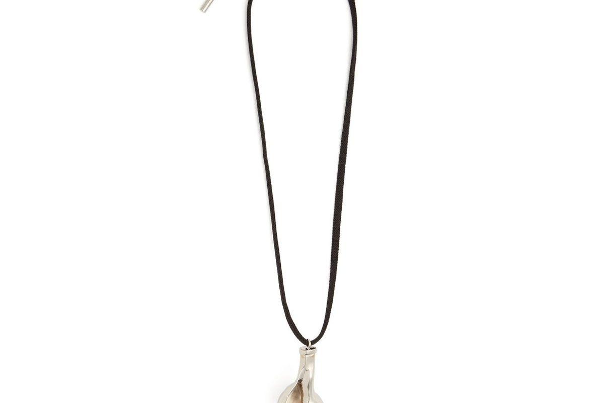 maison margiela seashell pendant necklace